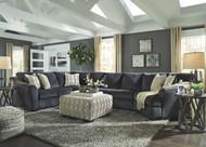 Eltmann Slate LAF Sofa with Corner Wedge, Armless Loveseat, Armless Chair & RAF Cuddler Sectional
