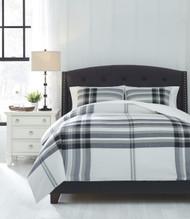 Stayner Black/Gray Queen Comforter Set