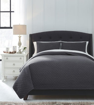 Ryter Charcoal Queen Coverlet Set