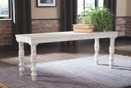 Dannerville White Accent Bench