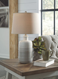 Marnina Taupe Ceramic Table Lamp