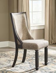 Tyler Creek Black/Grayish Brown Dining Upholstered Side Chair (2/CN)