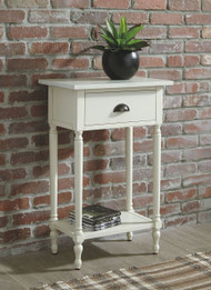 Juinville White Accent Table