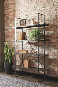Gilesgrove Black/Gray Bookcase