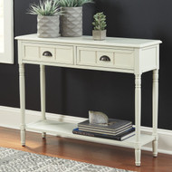 Goverton White Console Sofa/Couch Table