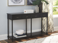 Eirdale Black Console Sofa/Couch Table
