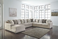 Ardsley Pewter LAF Corner Chaise, Armless Loveseat, Armless Chair, Wedge & RAF Sofa/Couch Sectional