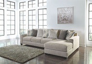 Ardsley Pewter LAF Sofa & RAF Corner Chaise Sectional