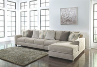 Ardsley Pewter LAF Sofa/Couch, Armless Chair & RAF Corner Chaise Sectional
