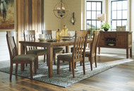Flaybern Brown 7 Pc. Rectangular Extension Table & 6 UPH Side Chairs