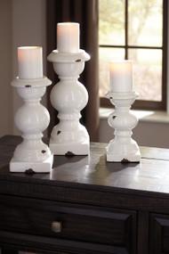 Devorah Antique White Candle Holder Set (3/CN)
