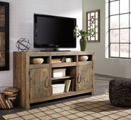 Sommerford Brown LG TV Stand w/Fireplace Option