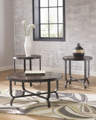 Ferlin Dark Brown Occasional Table Set (3/CN)