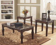 North Shore Dark Brown Occasional Table Set (3/CN)