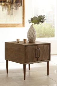 Kisper Dark Brown Square End Table