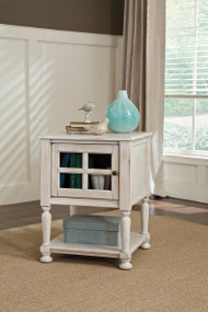 Mirimyn White Chair Side End Table