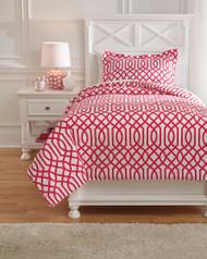 Loomis Fuchsia Twin Comforter Set