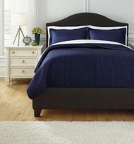 Raleda Navy King Coverlet Set