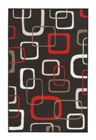 Johan Black/Red Medium Rug
