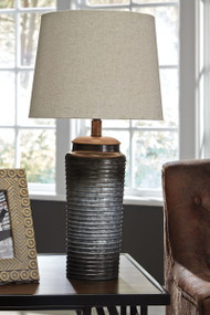 Norbert Gray Metal Table Lamp