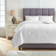 Maurilio White King Comforter Set