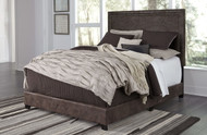 Dolante Brown King Upholstered Bed