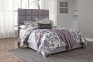 Contemporary Gray Queen Plush Upholstered Bed