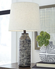 Mahima Black/White Paper Table Lamp