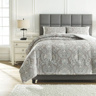 Noel Gray/Tan Queen Comforter Set