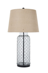 Sharmayne Transparent Glass Table Lamp (1/CN)