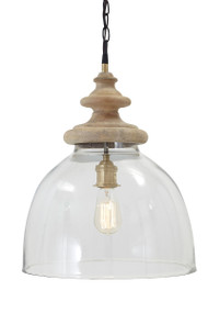 Farica Transparent Glass Pendant Light (1/CN)