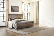 Lakeleigh Brown California King Panel Bed