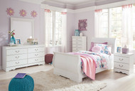 Anarasia White 6 Pc. Twin Bedroom Collection