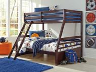 Halanton Dark Brown Twin/Full Bunk Bed