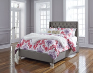 Coralayne Silver Full UPH Panel Bed