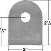 "Weld On Flat Tabs 9/16"" Hole (10 Pack)"