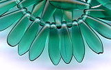 5x16mm Dagger (aka Spearhead) Glass Drop Bead, Czech Glass, emerald, (50 beads)