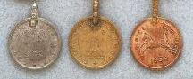 East Indian Metal Charm/Drop, Coin, medium, 20mm, copper, (6 pieces)
