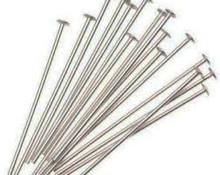 "Head Pin, Immitation Rhodium Plate (Nickel Color), 1 3/4"", Regular Thickness, 20 gauge, (1/4 oz - apprx 42 pc)"