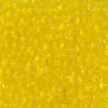 Miyuki Mini-Fringe-Drops (Roundish, Centered Top-Drilled Hole), 3.4mm, SKU 197034.MYDP34-0136, transparent yellow, (1 28-30gr tube, apprx 560 beads)