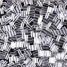 Japanese Miyuki Bugle Beads, size #1 (3mm), SKU 199000.BGL1-0131, crystal, (1   20-25 gram tube, apprx 2500 beads)