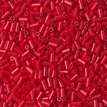 Japanese Miyuki Bugle Beads, size #1 (3mm), SKU 199000.BGL1-0408, opaque red, (1   20-25 gram tube, apprx 2500 beads)
