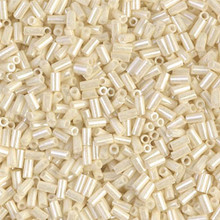 Japanese Miyuki Bugle Beads, size #1 (3mm), SKU 199000.BGL1-0594, ceylon light yellow, (1   20-25 gram tube, apprx 2500 beads)