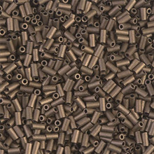 Japanese Miyuki Bugle Beads, size #1 (3mm), SKU 199000.BGL1-2006, matte metallic dark bronze, (1   20-25 gram tube, apprx 2500 beads)
