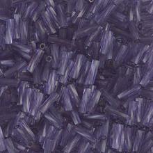 Miyuki Twisted Bugles, 2.0 x 6mm, SKU 500206.TW26-1722, Transparent Lilac, 19-23 gram tube, (1 19-23 gram tube, apprx 700 beads)