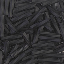 Miyuki Twisted Bugles, 2.7 x 12mm, SKU 502712.TW2712-0401F, Matte Black, 17-22 gram tube, (1 17-22 gram tube, apprx 170 beads)
