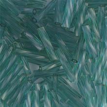 Miyuki Twisted Bugles, 2.7 x 12mm, SKU 502712.TW2712-1707, Transparent Blue Green, 17-22 gram tube, (1 17-22 gram tube, apprx 170 beads)