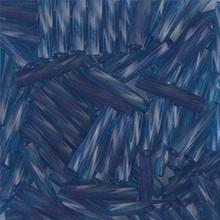 Miyuki Twisted Bugles, 2.7 x 12mm, SKU 502712.TW2712-1710, Transparent Montana, 17-22 gram tube, (1 17-22 gram tube, apprx 170 beads)