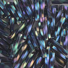 Miyuki Twisted Bugles, 2.7 x 12mm, SKU 502712.TW2712-0455, Blue Iris, 17-22 gram tube, (1 17-22 gram tube, apprx 170 beads)