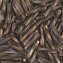 Miyuki Twisted Bugles, 2.7 x 12mm, SKU 502712.TW2712-1275, Matte Black Antiqued Bronze, 17-22 gram tube, (1 17-22 gram tube, apprx 170 beads)